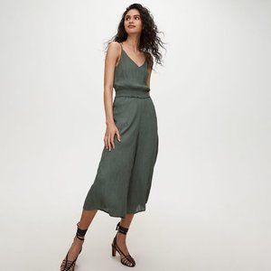 Aritzia Wilfred Irene Jumpsuit Green